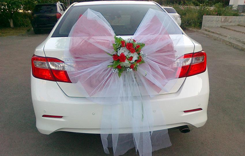 Банты украшение на свадебную машину своими руками